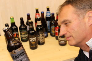 Armin selecting seasonal beers
