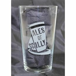 Ales Of Scilly Etched Pint Glass