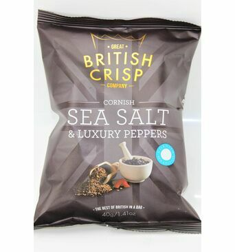 Cornish Sea Salt & Luxury Peppers Crisps