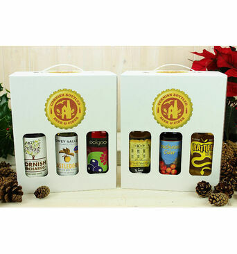 6 Bottle Stylish Cider Carry Gift Box