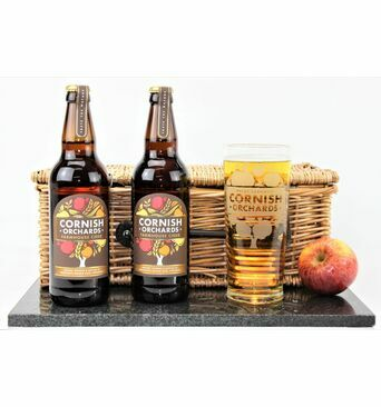 Cornish Farmhouse Cider & Glass Gift Set
