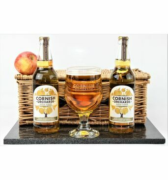 Cornish Gold Cider & Goblet Gift Set