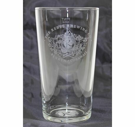 Rebel Brewing Co Etched Straight Pint Glass