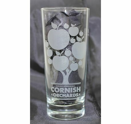 Cornish Orchards Etched Half Pint Glass