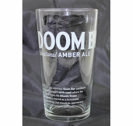 Sharp's Brewery Branded Doom Bar Pint Glass