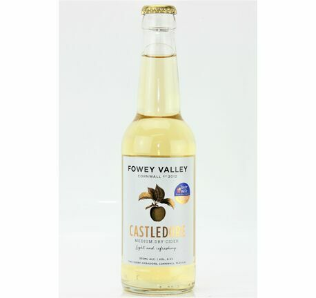 Castledore Medium Dry 330ml - Fowey Valley Cider (ABV 6.5%)