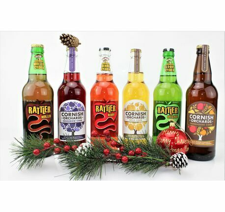 Festive Cider 'Christmas Crackers' Gift Box