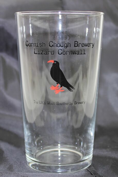 Cornish Chough Brewery Branded Pint Glass